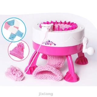 Girls Manual With Yarn Balls Accessory Tools Weaving Smart Toy Scarf Knitting Loom Machine