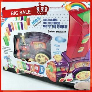 [CỰC ĐẸP] Bộ đồ chơi tàu hỏa Domino giúp bé rèn luyện sự khéo léo và tính kiên nhẫn [SỈ – LẺ]