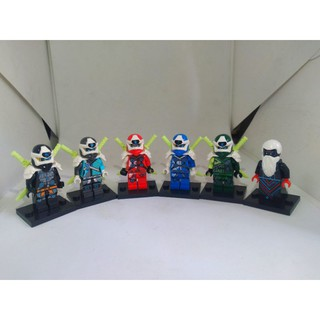 COMBO 6 nhân vật non Lego Ninjago SS12 & 6 Samurai ( 2hand ) thumbnail