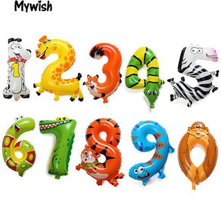 👶🏼Animal Number Foil Balloons Party Birthday Wedding Décor Ballon Child Gift