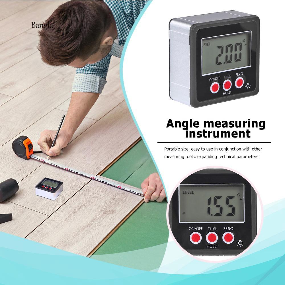 Đồng hồ đo góc kỹ thuật số chống nước có nam châm