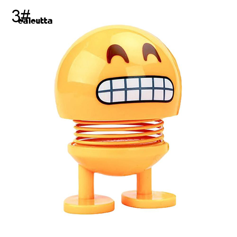 ◕‿◕Spring Head Shaking Smile Emoji Toy Figurine Car Auto Dashboard Home Decor