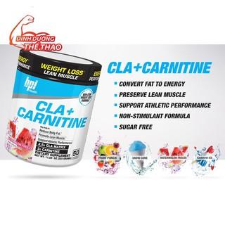 (SALE VÓN)CLA + Carnitine 50 lần dùng, giảm cân đốt mỡ, chuyển hoá năng lượng từ mỡ thừa BPI Sports
