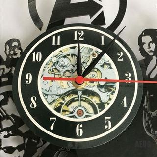 [AIU]  Barber Shop Wall Clock Modern Decoration Vinyl Record Wall Clock