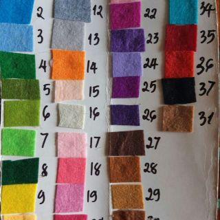 Vải nỉ mầm non 31 màu tự chon 18k 1 yad 90x90cm