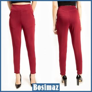 Quần Legging Nữ Bosimaz MS114 dài túi trước màu đỏ cao cấp, thun co giãn 4 chiều, vải đẹp dày, thoáng mát không xù lông. thumbnail