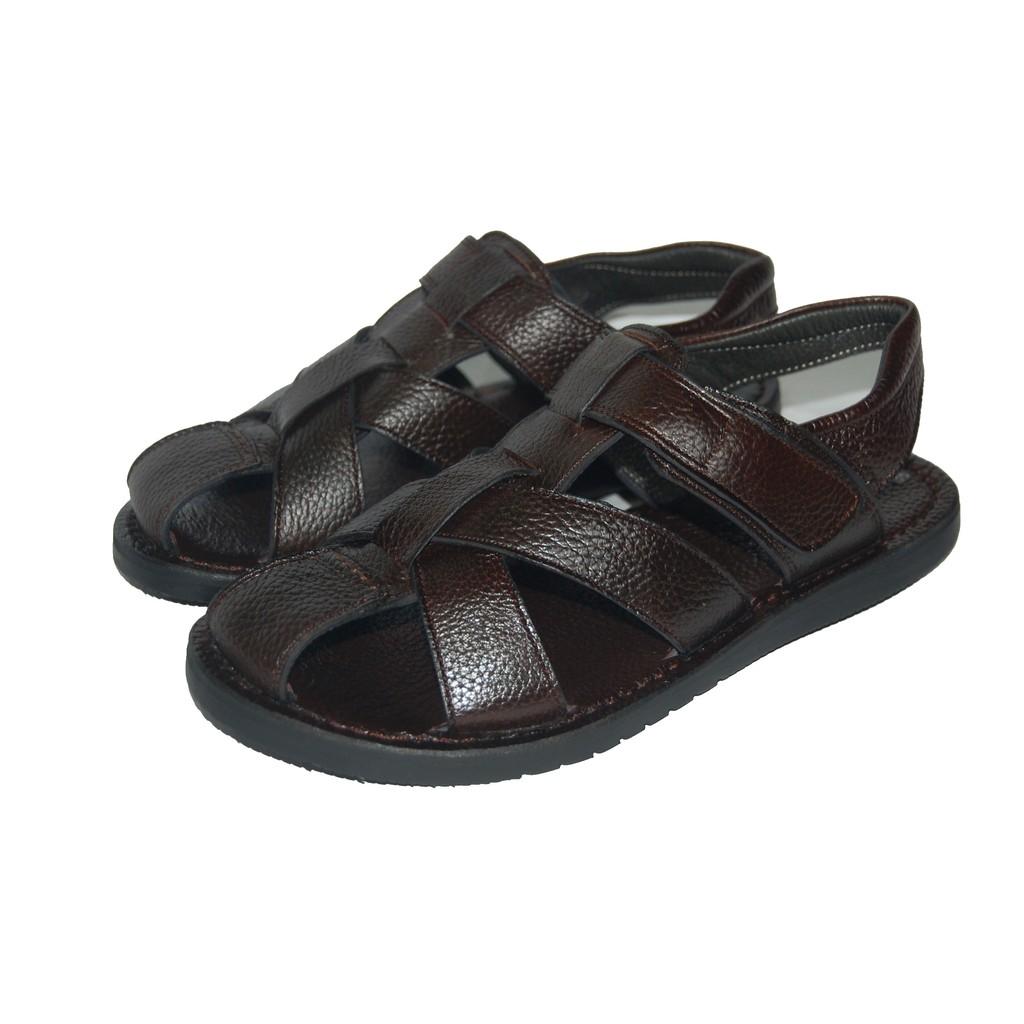 Sandal nam da bò thật. Bảo hành 12 tháng. MS: SD24