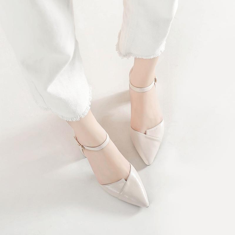 Free⚡Ship - Giày Nữ Da Mềm Mũi Nhọn mã P1A