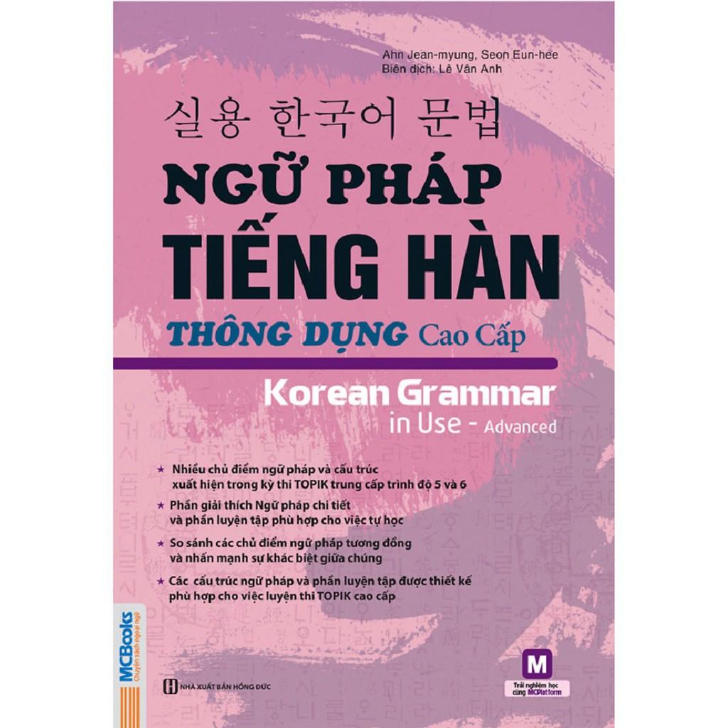 Sách - Ngữ pháp tiếng Hàn thông dụng cao cấp