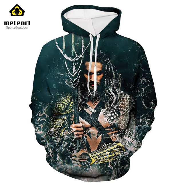 Unisex Fashion 3D Digital Printed Sports Casual Loose Hoodies