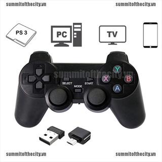 666 Tay cầm chơi game không dây 2.4ghz chuyên dụng cho PS3 PC TV Box thumbnail