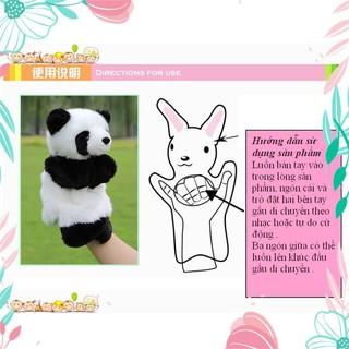 [Giá Hủy Diệt] Rối bàn tay gấu Panda đáng yêu phát triển trí tuệ cho bé [Hàng Đẹp]