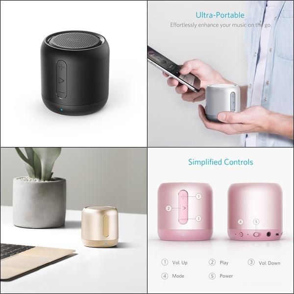 Loa Bluetooth Anker SoundCore mini - Nghe nhạc 15 giờ, đọc thẻ nhớ, đài FM
