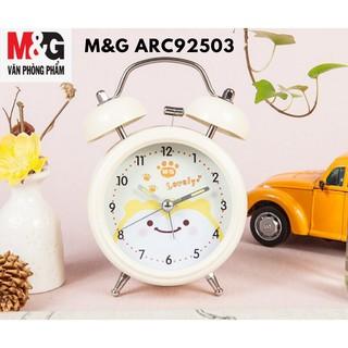Đồng hồ báo thức M&G thân bằng sắt có 3 màu, bên trong in hình chú Gấu (giao màu ngẫu nhiên)ARC92503/ARC92504- 1 cái
