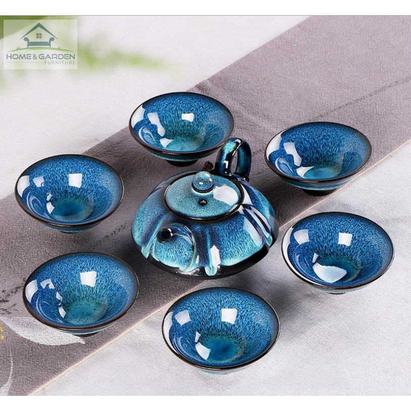Bộ ấm trà gốm sứ cao cấp Nhật cổ, quà tặng doanh nghiệp, gia đình (Màu xanh) - Home and Garden - 3130915 , 1160718377 , 322_1160718377 , 399000 , Bo-am-tra-gom-su-cao-cap-Nhat-co-qua-tang-doanh-nghiep-gia-dinh-Mau-xanh-Home-and-Garden-322_1160718377 , shopee.vn , Bộ ấm trà gốm sứ cao cấp Nhật cổ, quà tặng doanh nghiệp, gia đình (Màu xanh) - Home