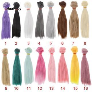 Bộ tóc giả thẳng dài 15cm cho búp bê
