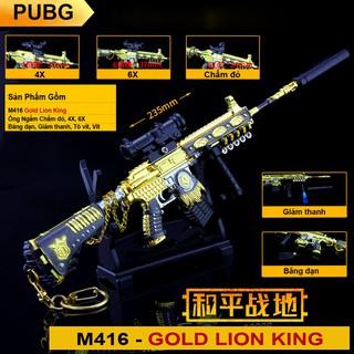 Mô Hình PUBG M416 Gold Lion King – 24cm – Kèm Giá Đỡ