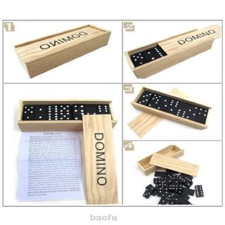 Teaching Aids Children Adult Indoor Outdoor Intelligence Development Birthday Gifts Classic Numbers Wood Dominoes Set