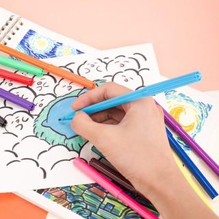Hình ảnh Bút màu nước học sinh Deli, 1.0mm, 12 màu - 18 màu - 24 màu/hộp E37171-6