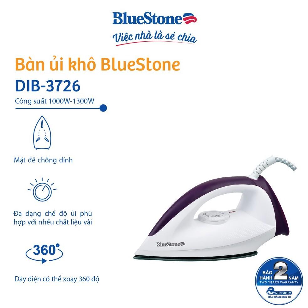 [Mã ELBLUE10 giảm 5% đơn 500k] Bàn ủi khô Bluestone DIB-3726 - 1200W
