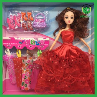 Búp Bê Barbie Có Túi Xách + Váy + Giày (BB6608)