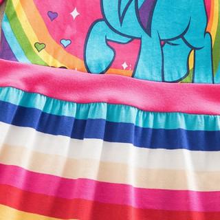 Đầm Cotton Họa Tiết Ngựa Pony Nhiều Màu Sắc Cho Bé Gái 3-8 Tuổi