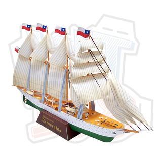 Mô hịnh giấy Sailship – Esmerald