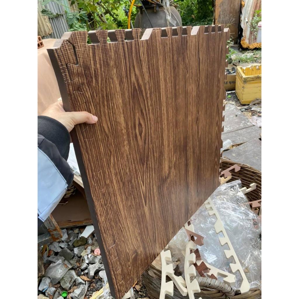 [HÀNG CAO CẤP] Thảm xốp lót sàn vân gỗ dày 2cm kích thước 60x60cm