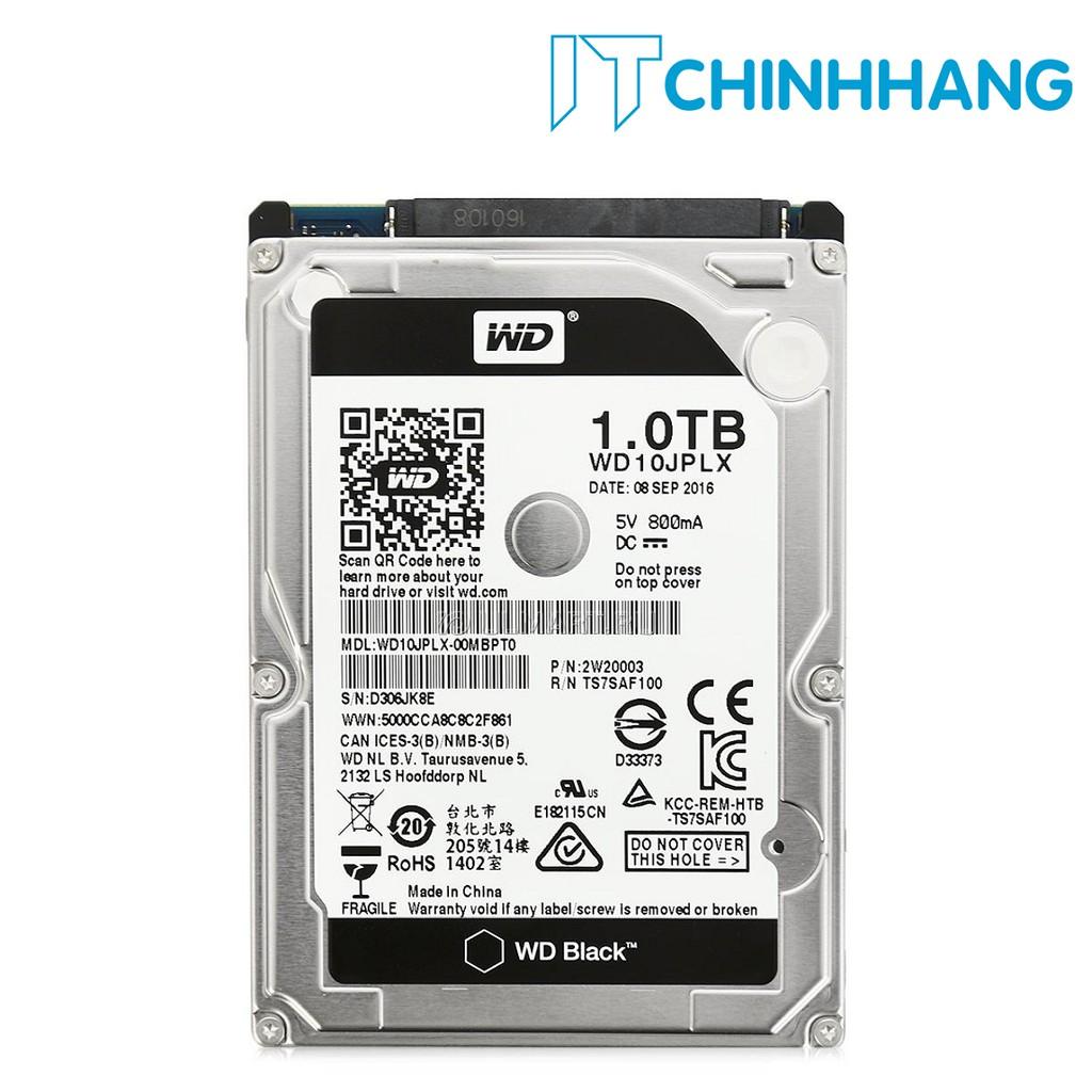 Ổ cứng gắn trong máy tính HDD WD 1Tb - SATA - NoteBook (BLACK) - HÃNG PHÂN PHỐI CHÍNH THỨC