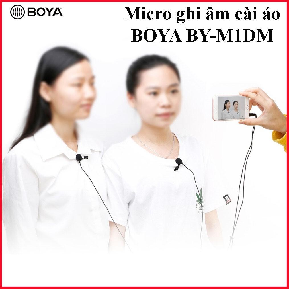 [PHIÊN BẢN MỚI] Micro ghi âm cài áo Boya BY-M1DM 2 mic thu âm cho 2 người cùng lúc,làm youtube, vlog cực tốt d2tshop