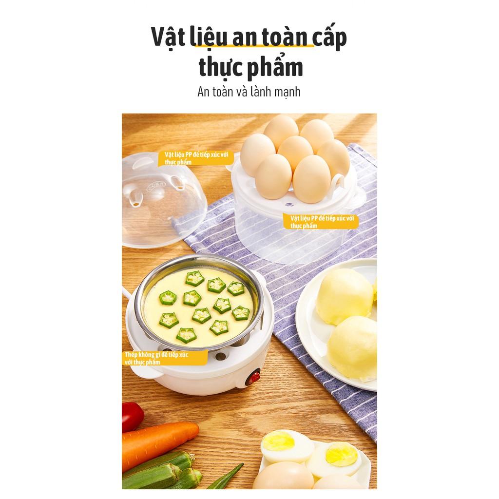 Nồi hấp thức ăn đa năng hấp trứng hấp thit rau củ quả 2 tầng tự ngắt điện - BH 3 tháng