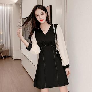 Đầm Tay Dài Dáng Ôm Thời Trang Mùa Thu Cho Nữ Size S-2xl