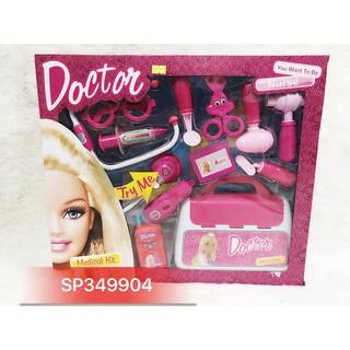Hộp bác sĩ tai nghe pin + vali Barbie 4667 – SP349904