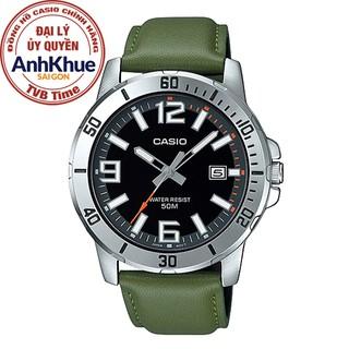 Đồng hồ nam dây da Casio Standard chính hãng Anh Khuê MTP-VD01L-3BVUDF