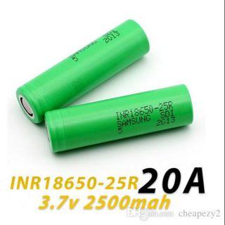 Pin 3v7 18650 Samsung 25R