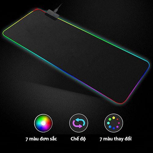 (RẺ NHẤT SHOPEE) Bàn di chuột RBG, Pad chuột RGB kích thước 800x300x4 mm Giá chỉ 250.000₫