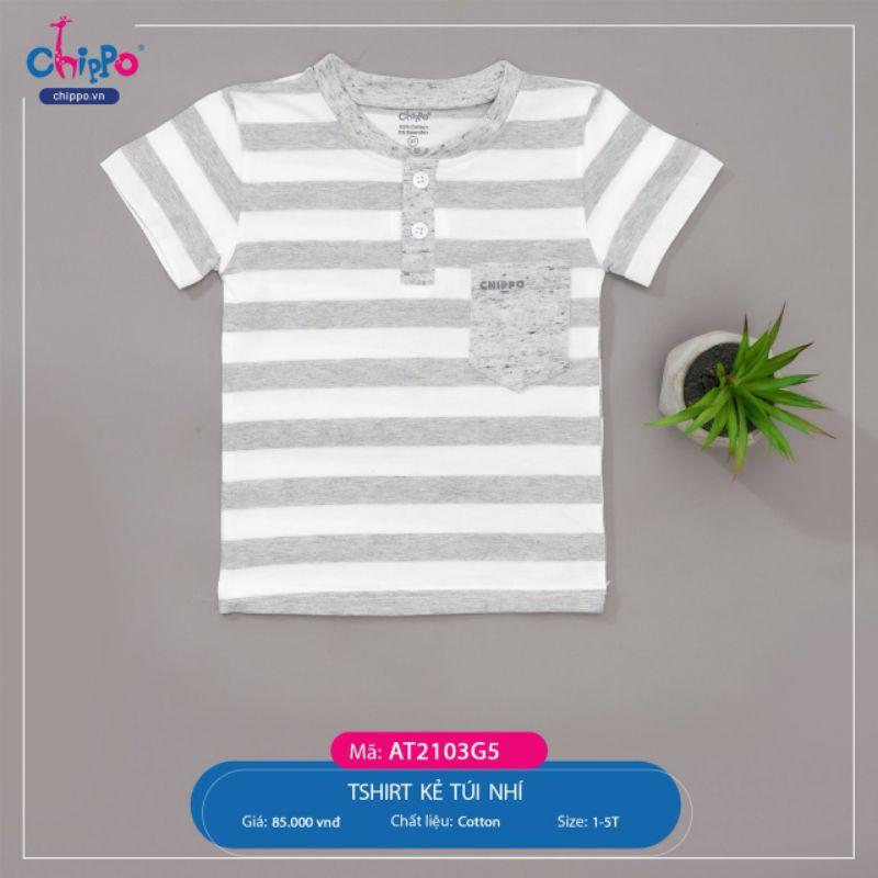 [Chippo] Áo T-shirt kẻ túi nhí