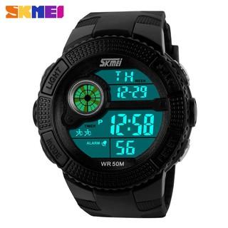 Đồng hồ đeo tay kỹ thuật số SKMEI 1027 tích hợp đèn led thời trang thường ngày cho nam