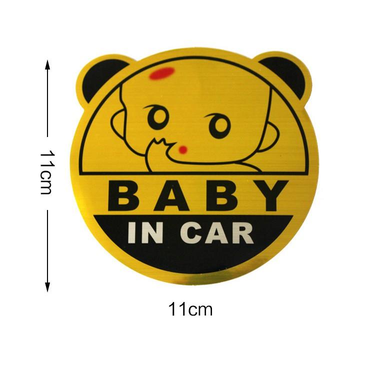 Hình dán phản quang BABY IN CAR