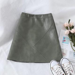 FREESHIP TỪ 99K Chân váy da chân váy ngắn chân váy chữ A – (ảnh thật ở cuối)