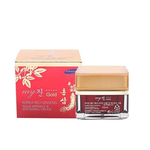 Kem dưỡng da hồng sâm My Gold Korea Red Ginseng Aqua Wrinkle and Whitening Cream 50ml