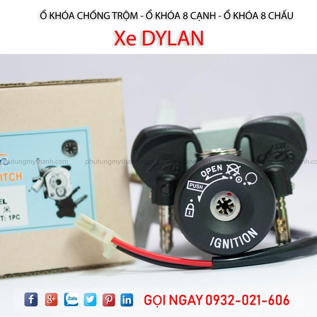 Ổ khóa xe Dylan 150 xe nhập chìa 8 cạnh - EH