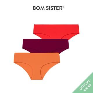 Combo 3 quần lót su đúc lưng thấp cắt viền màu trơn đáy ép phần 2 BOM SISTER CBQ40262 thumbnail