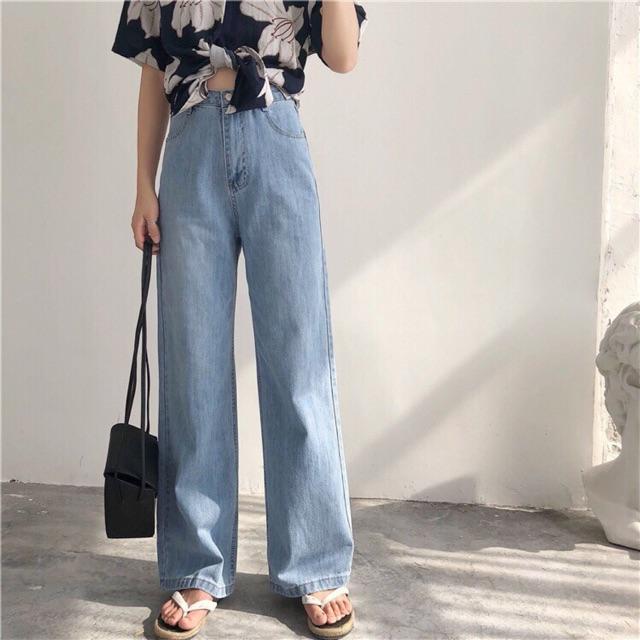 FS50K_Quần Jeans Nữ Ống Rộng Cao Cấp OHS3100