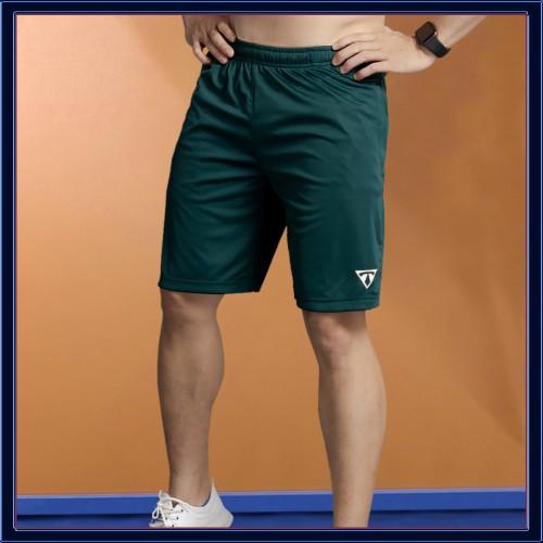 Quần Đùi Thể Thao Nam Vải Thun Lạnh T-Simple (Rêu) [NUTTY], quần short thê thao, quần tập gym cao cấp