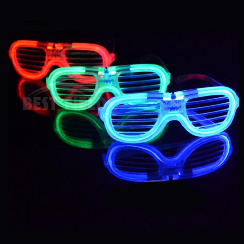 Cặp kính có đèn LED nhấp nháy 3 chế độ độc đáo cho các bữa tiệc Halloween 15.5cm x 5.6cm...