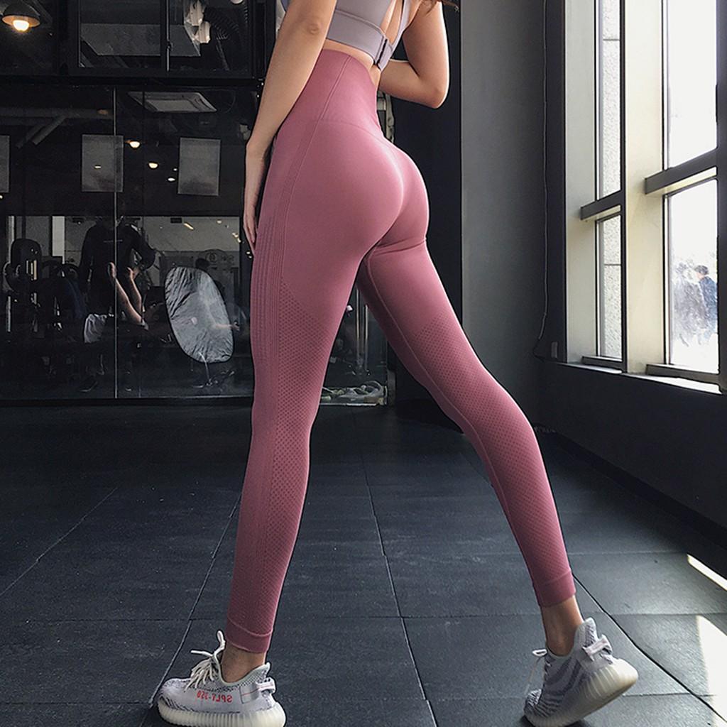 Mặc gì đẹp: Thoáng mát với Quần legging cap cao tập gym yoga aerobic nữ AMIN AM016 vải dệt kim co giãn tốt mặc ôm dáng nâng mông tôn vòng 3