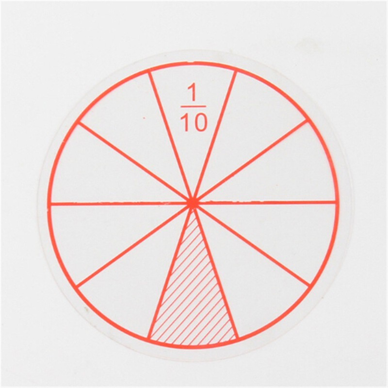 [HO&OFF] 12pc Math Fraction Circles for Children Kids Student School Educational Toy Gift