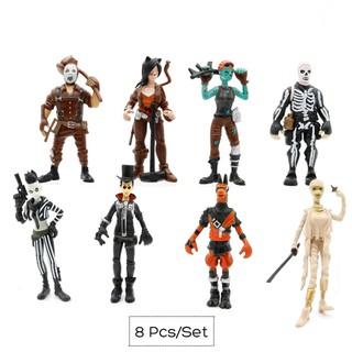 8PCS Fortnite Toys Movable Game Action Figures Desktop Doll Ornaments