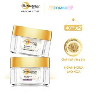 """Combo ngăn lão hóa Bio-Essence Bio-Gold Kem dưỡng ngày + đêm (40gr x2) giá chỉ còn <strong class=""""price"""">51.500.000.000đ</strong>"""